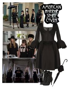 """""""American Horror Story Coven"""" by priscilla12 ❤ liked on Polyvore featuring Episode, Coven, Rochas, Mimco, TV, americanhorrorstory, ahs and witches"""