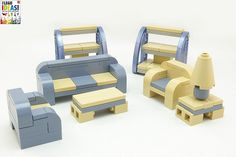 """2011 furniture models - lego models commissioned for dorling kindersley's """"lego ideas book"""" Lego Toys, Lego Duplo, Lego Furniture, Minecraft Furniture, Small Furniture, Furniture Ideas, Legos, Lego Table Ikea, Lego Activities"""