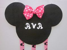 Minnie Mouse Themed Hairbow Organizer Hairbow Holder Hairbows Personalized By Sweetpeas Bows