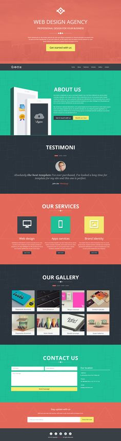 Gotte Multipurpose Landing Page Muse Template on Themeforest
