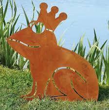 rusty finish metal goat silhouette garden art yard stake. $30.99, Garten ideen