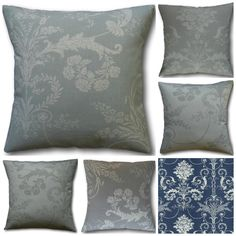 Cushion Covers Josette Dove Grey, Duck Egg, Midnight, Steel or Truffle Cream Envelope Back Throw Pillows made in England Laura Ashley Fabric Dove Grey, Grey And White, Truffle Cream, Laura Ashley Fabric, Floral Cushions, Back Pillow, Soft Furnishings, Cushion Covers, Truffles