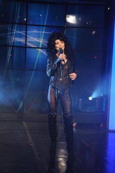 Kelly RIpa dressed as Cher. Kelly and Michael Halloween Costumes