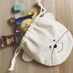 Sewing Crafts, Sewing Projects, Pouch Pattern, Fabric Bags, Kids Bags, Cute Bags, Cotton Bag, Sewing For Kids, Handmade Bags