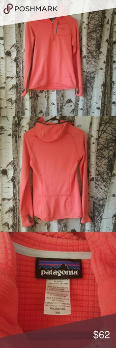 Patagonia R1 Fleece, XS Perfect used condition Patagonia R1 fleece pullover. Pink with teal zipper. Patagonia Sweaters