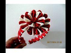 Flores corazones de rubí y perla en diademas en cintas para el cabello - YouTube