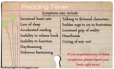 Reading Fever ... Symptoms May Include ...