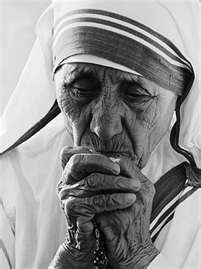 Mother Theresa- every line holds another story of mercy