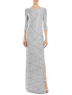 Glint Knit Bateau Neck Dress