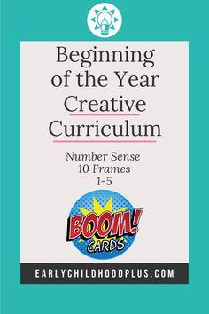 Ten Frame Number Sense Creative Curriculum Beginning the Year PreK 10 Frame Counting Inclusion Classroom, Math Classroom, Classroom Activities, Classroom Ideas, Teaching Strategies Gold, Learning Resources, Preschool Teachers, Math Assessment, Creative Curriculum
