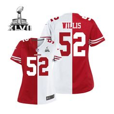 443c7caa80a (Elite Nike Women s Patrick Willis Team Road Two Tone Super Bowl XLVII  Jersey) San Francisco 49ers  52 NFL ...