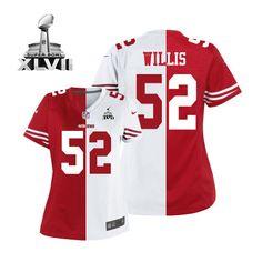 443c7caa80a (Elite Nike Women s Patrick Willis Team Road Two Tone Super Bowl XLVII  Jersey) San Francisco 49ers  52 NFL ...