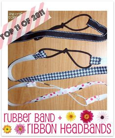 Rubber band head bands