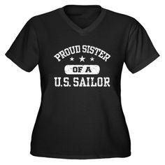 Cafepress Women's Plus Size Proud Marine Sister Graphic T-shirt, Black Sailor Shirt, Navy Sailor, Us Navy Love, Navy Sister, Us Sailors, Create Shirts, V Neck T Shirt, Classic T Shirts, Shirt Designs