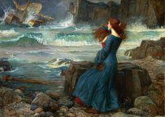 John William Waterhouse - Miranda and the Tempest [1916]