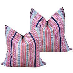 Nakhon Pillow Pair. batik print pillows perfect for bohemian decor
