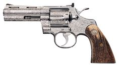 Colt Python   Engraved Colt Python Double Action Revolver with Stag Grips