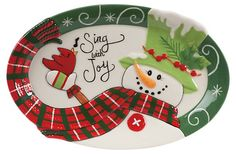 Holly Hat Snowman Sentiment Tray | The Holiday Kitchen | One Kings Lane