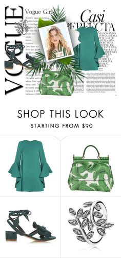 """""""leaves"""" by nico-penelope on Polyvore featuring Whiteley, Dolce&Gabbana, Olgana, Pandora, Body by Victoria and Nika"""