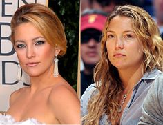 kate hudson is gorgeous with or with out make up and has a beautiful natural ass Contour Makeup, Contouring And Highlighting, Beauty Makeup, Makeup Photoshop, No Photoshop, Kate Hudson, Celebs Without Makeup, Celebrity Makeup Looks, Makeup Before And After