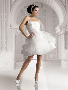 Свадебное платье пышное из органзы