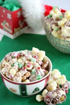 Kids Cooking Recipe: Reindeer Treats (puffcorn, pretzels, peanuts and ms covered with almond bark) - can be made anytime of the year! Kids Cooking Party, Kids Cooking Recipes, Cooking With Kids, Cooking Rice, Christmas Treats, Holiday Treats, Holiday Recipes, Christmas Candy, Holiday Desserts