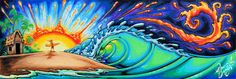 THE SWEET LIFE Painting by Drew Brophy for Nectar Sunglasses April 2014