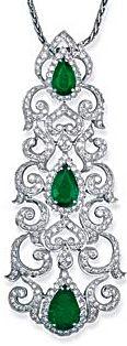 Emerald pendant by Bapalal Keshavlal