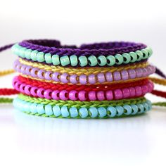 Crocheted Beaded Friendship Bracelet