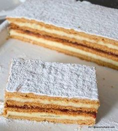 Pastry Recipes, Sweets Recipes, Baby Food Recipes, Cake Recipes, Small Desserts, Fancy Desserts, No Cook Desserts, Romanian Desserts, Romanian Food