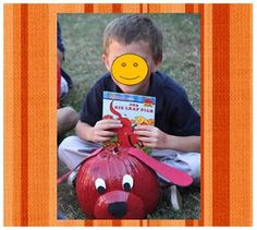 """Lovin these """"character"""" pumpkins! Book Character Pumpkins, Pumpkin Contest, Pumpkin Ideas, Pumpkin Books, Holiday Crafts For Kids, Holiday Ideas, Projects For Kids, School Projects, Project Ideas"""