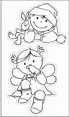 Ec0102 Clear stamp Toddler Girl - Eline's Toddlers - Marianne Design Clear stamps - Hobbynu.nl