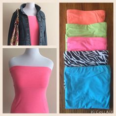 "FINAL MARKDOWNHP Strapless Cami's FINAL MARKDOWN! HP - ""It Girl"" Strapless Cami's with Built in Shelf Bra. Pink, Blue & Coral have been sold & are no longer available. ✔️NEON GREEN & ZEBRA ✔️ are last two colors left. No Boundaries Tops Camisoles"
