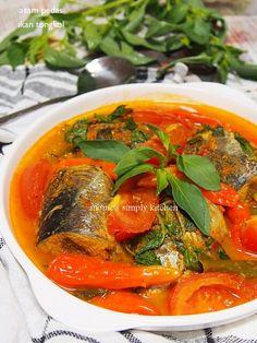 asam pedas ikan Fish Recipes, Seafood Recipes, Asian Recipes, Chicken Recipes, Cooking Recipes, Ethnic Recipes, Recipies, Fish Dishes, Seafood Dishes