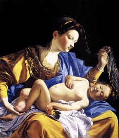 Madonna with Sleeping Christ Child - Artemisia Gentileschi, 1610    A really beautiful Madonna piece
