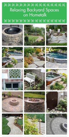 backyard spaces, Firepits, Pools, Gardens, Walkways #BackYardDecor #BackYardFurniture