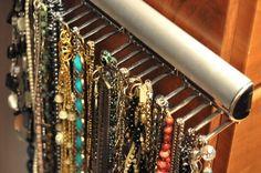 23 Creative Ideas For Jewelry Storage - Fashion Diva Design Jewellery Storage, Jewellery Display, Jewelry Organization, Organization Ideas, Necklace Storage, Jewelry Hanger, Jewelry Accessories, Fashion Accessories, Jewlery