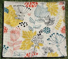 Crewel Rug Weeds and Flowers Yellow on White Cotton Duck  Fabric Type: Cotton Duck Fabric Detail: Crewel Chainstitch Embroidery with Wool on Cotton Canvas Pattern: Weeds and Flowers Pattern Detail: Jacobean Floral Color: Yellow on White  Visit us @ www.crewelfabricworld.com or call us at 404-966-7806