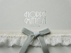 Beau lace garter with velvet bow by florriemitton on Etsy, $65.00