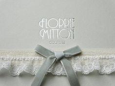 innocence spot tulle garter by florriemitton on Etsy