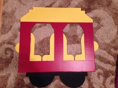 Daniel tiger trolley made out of cardboard from hobby lobby. Total cost was…