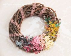 wreath of butterflies tutorial, wianek z motylkami, die cut tutorial, scrap craft, scrapbooking