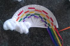 Woven Ribbon Paper Plate Rainbow (from Evolving Motherhood)