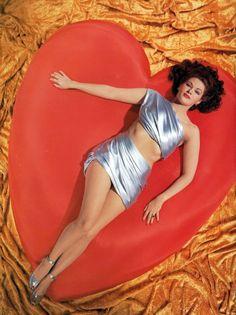 Vintage Valentine's Day Pin-Up - Yvonne De Carlo...