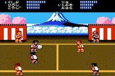 Kunio-kun no dodge ball zenin shuugou. Sega genesis