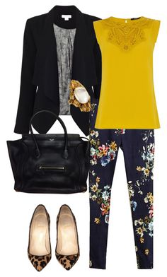 """Dark Floral"" by mayumi17 ❤ liked on Polyvore featuring Monsoon, Oasis and Christian Louboutin"