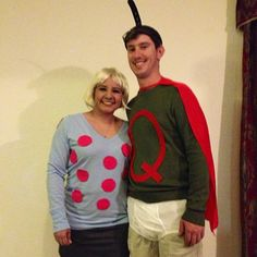Calling All Couples! These Unique 2019 Halloween Costume Ideas Are Creative and Cute to Boot Easy Couples Costumes, Unique Costumes, Easy Costumes, Costume Ideas, Punny Halloween Costumes, Halloween Couples, Halloween Ideas, Happy Halloween, Doug Funnie