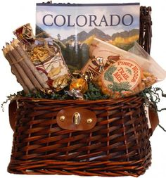 Catch of the Day - obbgiftsdenver.com   wicker creel basket filled with tasty goodies