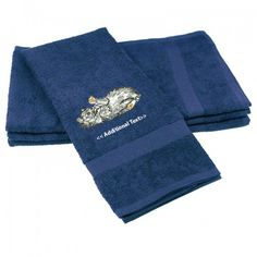 Buy personalised Cat  Towels which you can get your custom text below the main logo. This Custom Embroidered category of towels which are made from the soft organic 100% Cotton Terry.