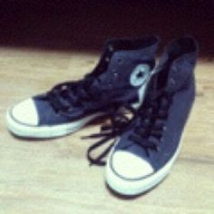 New shoes! Converse! My birth first present!